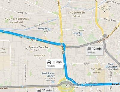 تهران – شعبه اکباتان